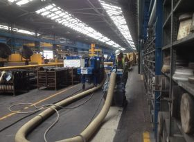 Coating Removal In Steelworks