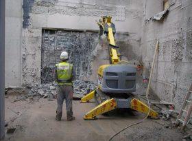 Controlled demolition at Edinburgh International Conference Centre