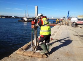 Diamond Drilling for Mooring Bollards New Forth Crossing