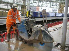 Electric Floorsaw Cutting Glasgow Central Station