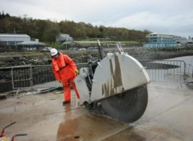 Faslane Polaris Jetty Demolition Floor Sawing