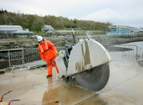 Faslane Polaris Demolition with 1500mm Dia Blade