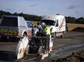 Floor Sawing Asphalt Cutting M9 Motorway