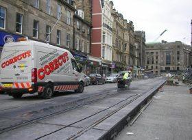 Floorsaw Cutting Edinburgh Trams