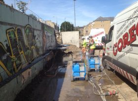Wall Sawing – Brunswick Road, Edinburgh