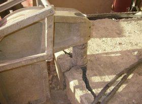Non Percussive Hydraulic Crunching Balcony Slabs