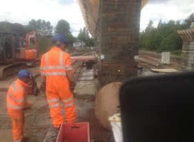Wall Sawing - Cutting of Brickwork Bridge Pier